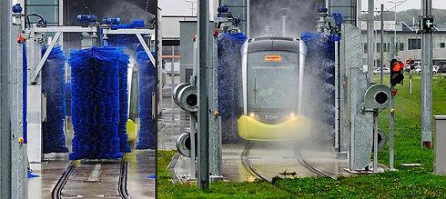 машини за измиване на влакове,трамваи и ЖП