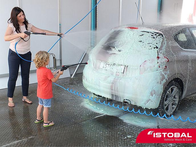 самообслужване и заавление при измиване на автомобила