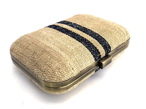 CAPSULE CLUTCH ANTIQUE FRENCH LINEN