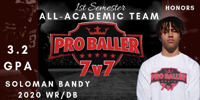 Soloman Bandy Pro Baller 7v7 All-Academic Team