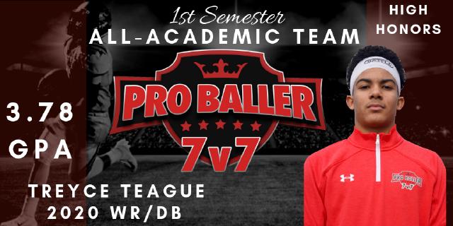 Treyce Teague Pro Baller 7v7 All-Academic Team