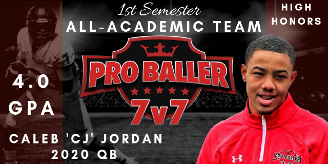 Caleb CJ Jordan Pro Baller 7v7 All-Academic Team