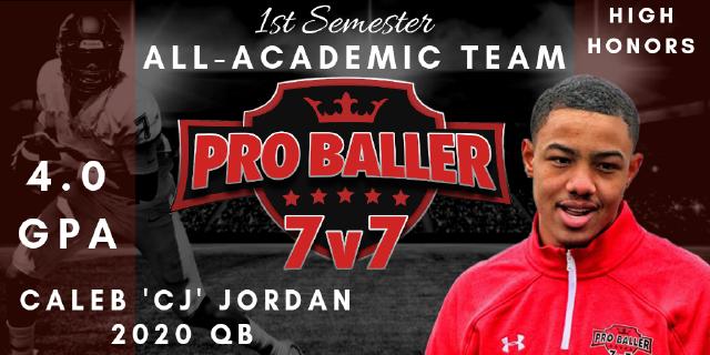 Caleb CJ Jordan Pro Baller 7v7 All-Academic Team