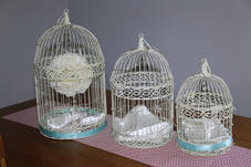 Bird cages - sm $5.50, med $7.50, lg $10.50