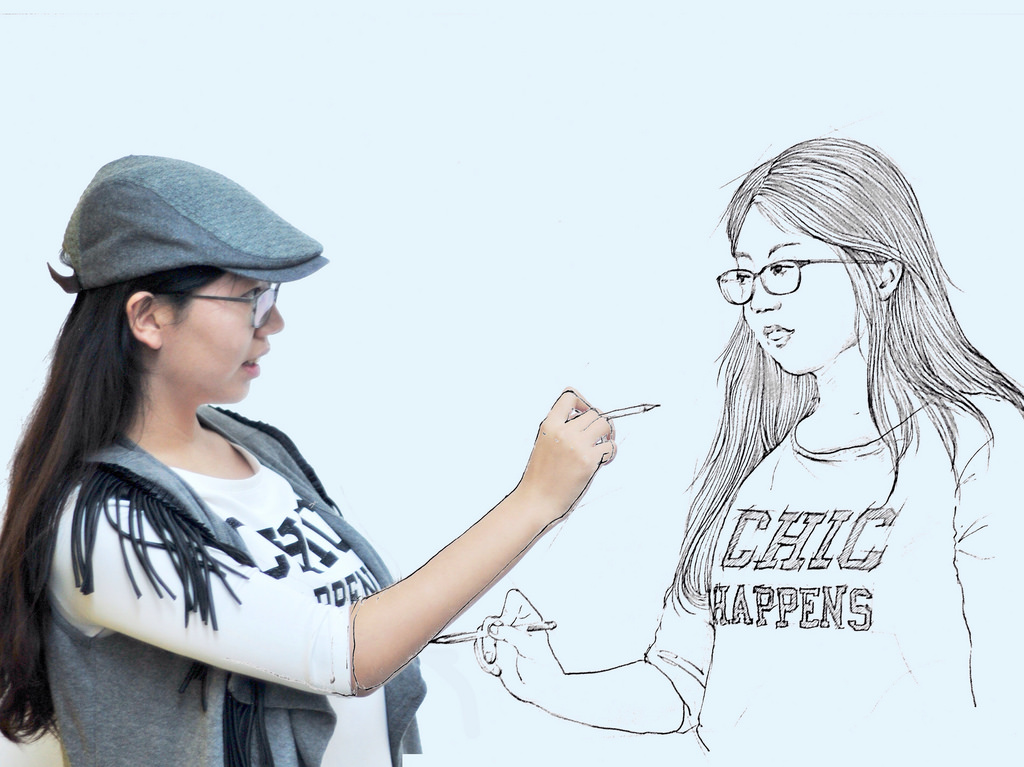 我畫我自己畫中自己