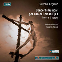 "G. Legrenzi - CONCERTI MUSICALI PER USO DI CHIESA OP. 1 ""Messa & Vespro"""