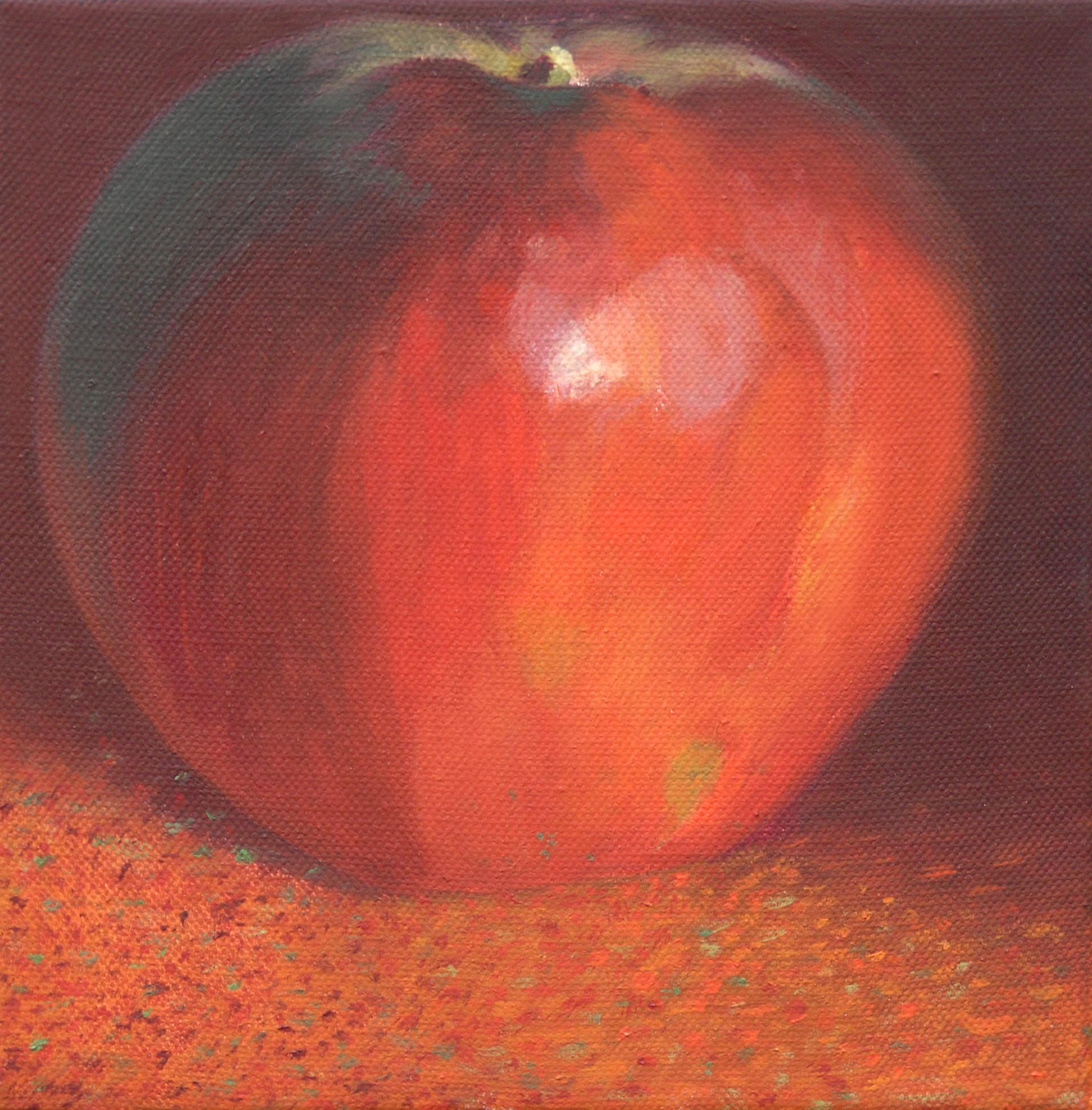 Dark red apple 3