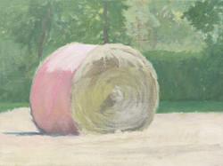Pink haybale 1