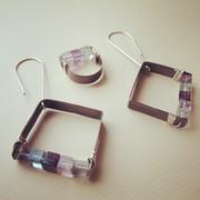 In-quadrato collection: tutti i colori della fluorite!