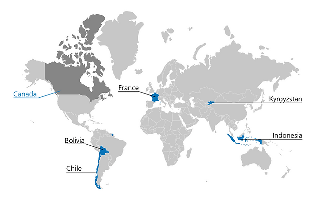 Map of the World showing where we have been