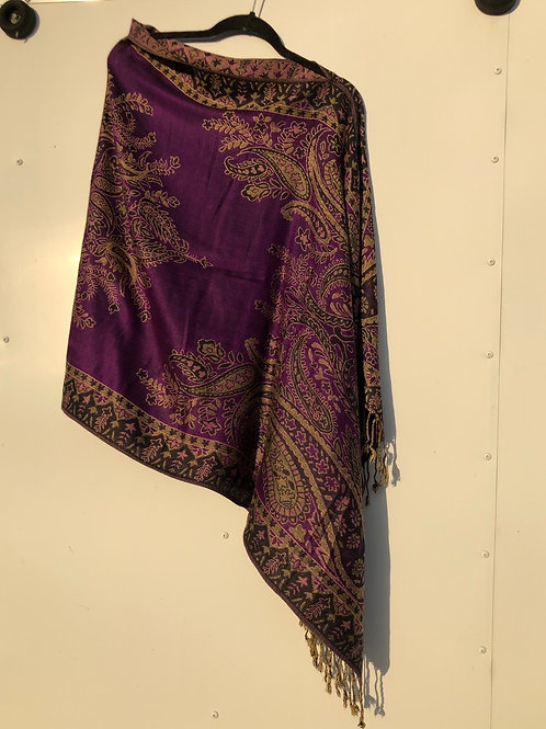 Purple/gold Big Paisley
