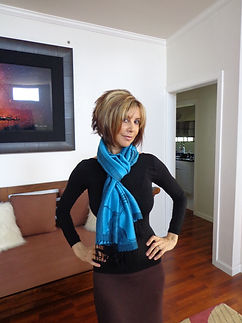 pashmina poncho won as a scarf