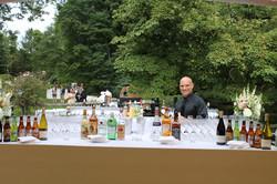 Marc's beautiful bar set up.