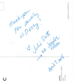 Thank You Note - Julie SCott