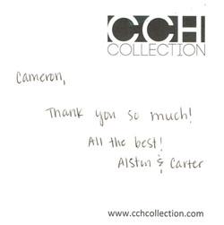 Thank you note - Alston & Carter