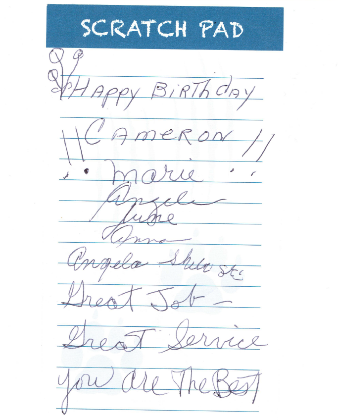 Thank you Note from John Shiboski Mother and freinds - 7-4-2015.png