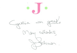 Janine - Cynthia Thank you
