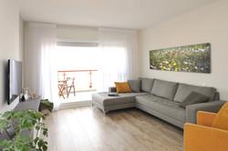 עיצוב סלון בדירת זוג צעיר