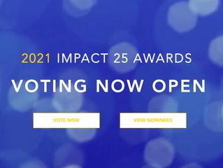 Impact 25 Awards Nomination