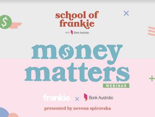 frankie magazine 'money matters' webinar