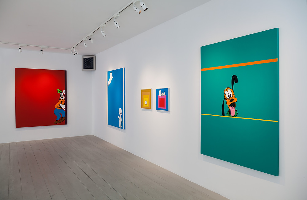 Installation view, 'Powerage': Juan Bolivar' at JGM Gallery, London. Photo by Damian Griffiths.