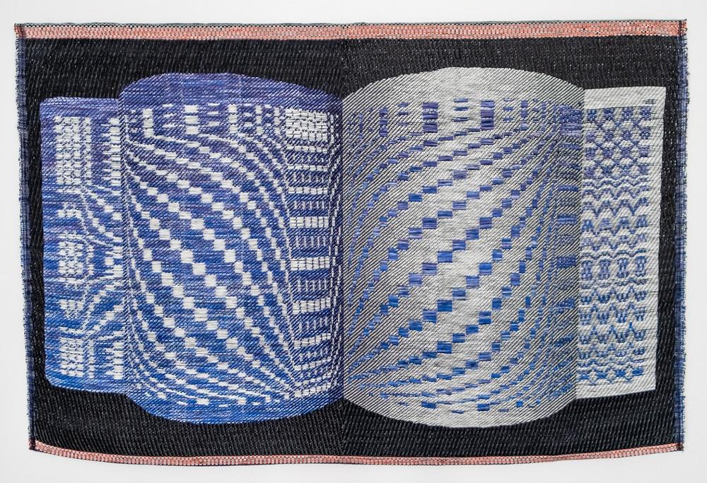 Woven textile art by Marianne Fairbanks