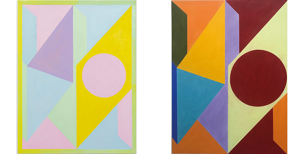 Anna Liber Lewis abstract paintings 2021