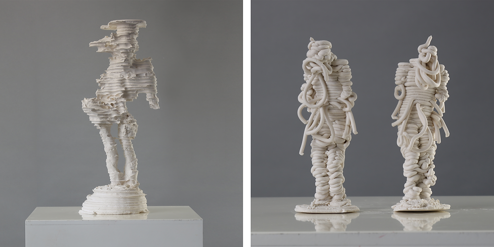 Sculptures in porcelain by James Rogers