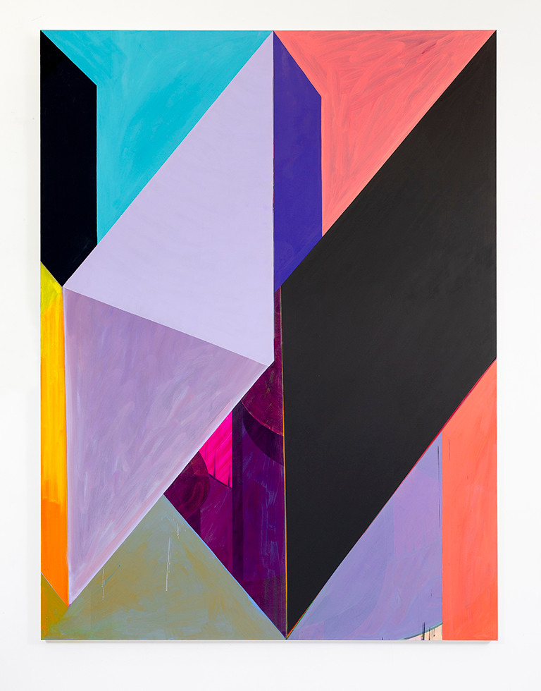 Anna Liber Lewis abstract painting, The Shape of Things to Come