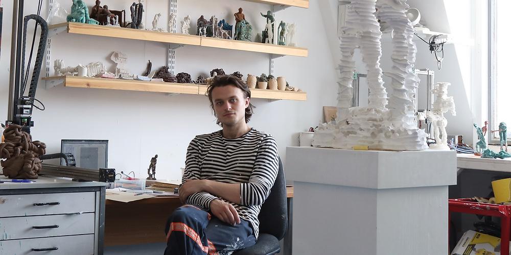 Artist, James Rogers pictured in his studio.
