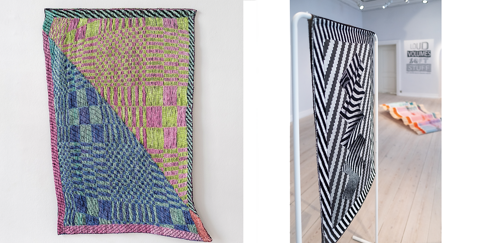 Woven works of art by Marianne Fairbanks