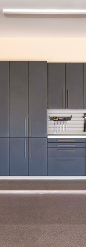 Granite Cabinets with Double Stainless Counters
