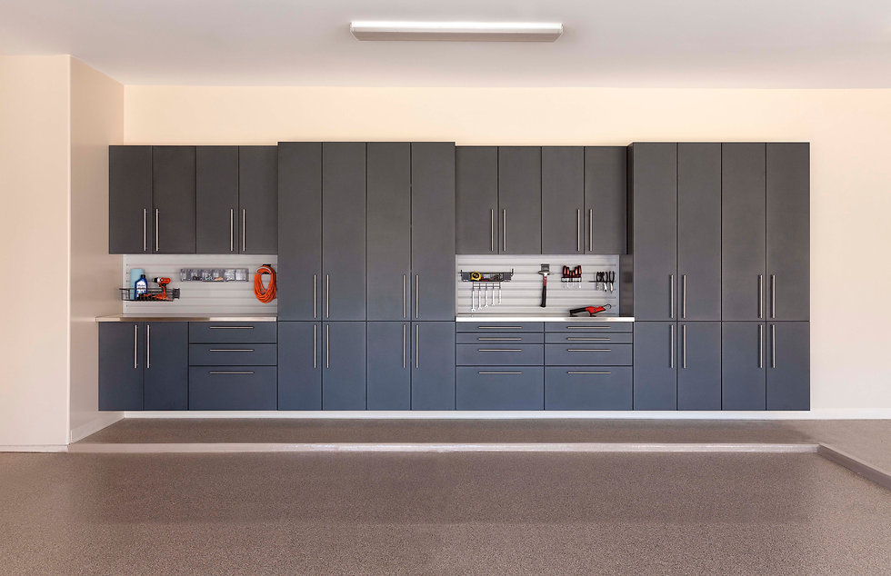 Granite Cabinets with Double Stainless W