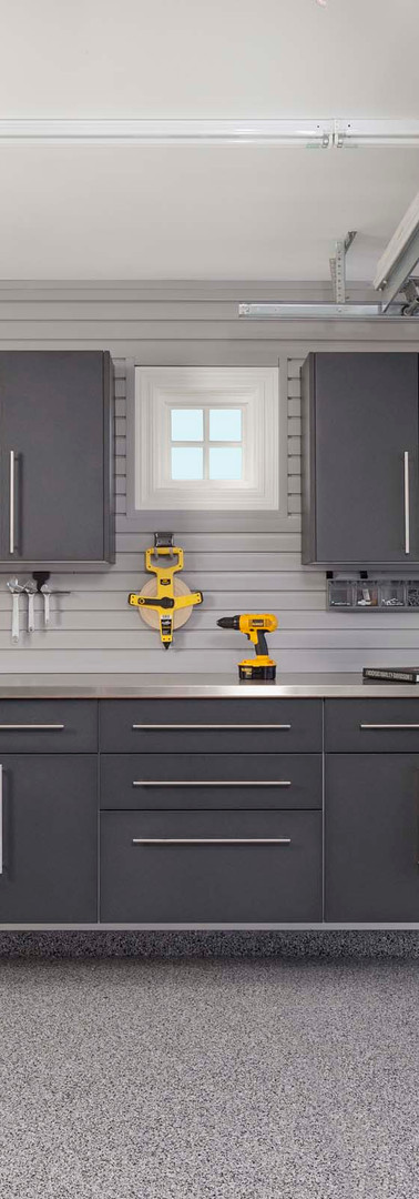 Granite Workbench + Stainless Counter