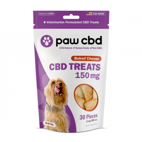 Pet CBD Oil Treats for Dogs  Baked Cheese - 150 mg - 30 Count
