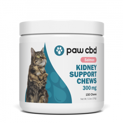 Pet CBD Kidney Support Soft Chews for Cats - Salmon - 300 mg - 150 Count