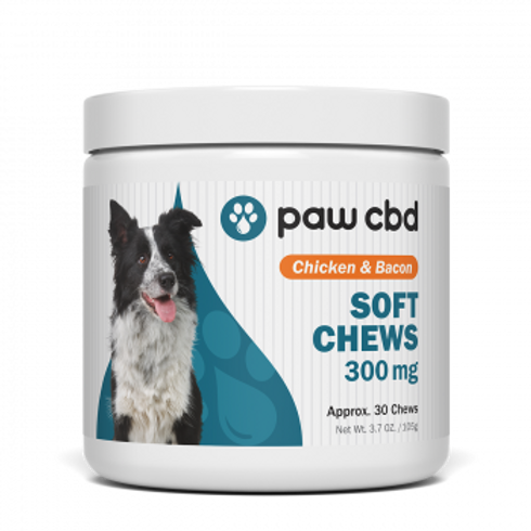 Pet CBD Soft Chews for Dogs  Chicken & Bacon - 300 mg - 30 Count