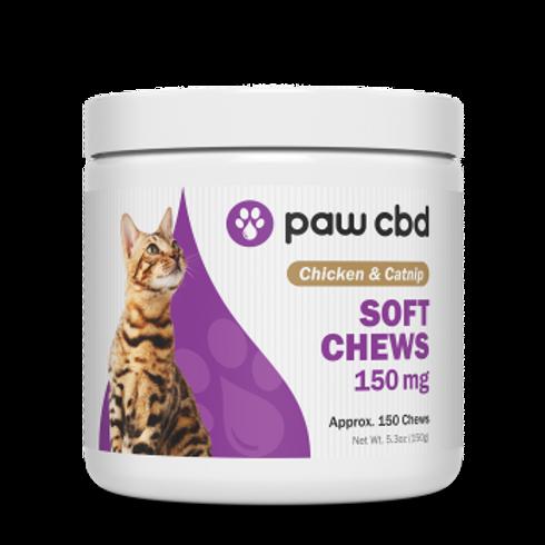 Pet CBD Soft Chews for Cats  Chicken & Catnip - 150 mg - 150 Count