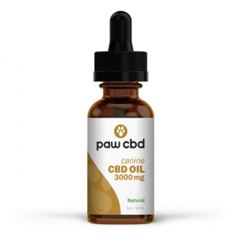 Pet CBD Oil Tincture for Dogs  Natural - 3000 mg - 30 mL