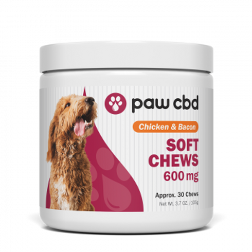 Pet CBD Soft Chews for Dogs  Chicken & Bacon - 600 mg - 30 Count