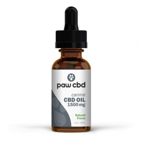 Pet CBD Oil Tincture for Dogs  Natural - 1500 mg - 30 mL