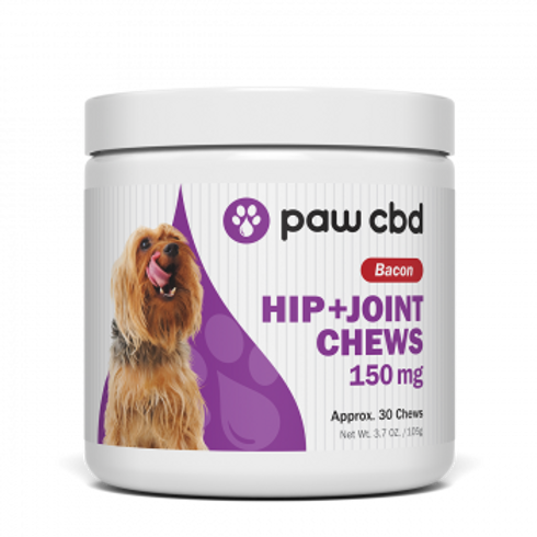 Pet CBD Hip & Joint Soft Chews for Dogs  Bacon - 150 mg - 30 Count