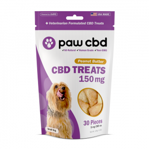 Pet CBD Oil Treats for Dogs  Peanut Butter - 150 mg - 30 Count
