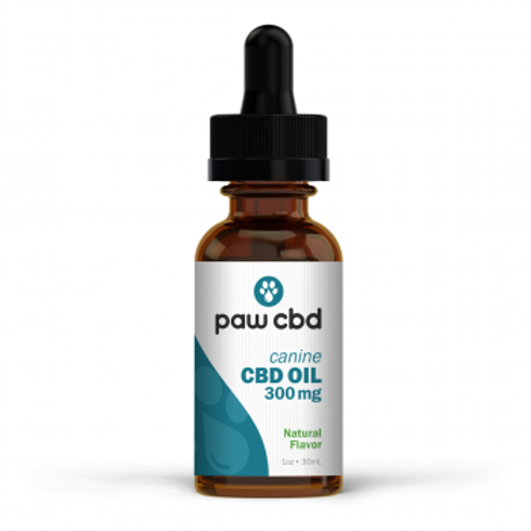 Pet CBD Oil Tincture for Dogs  Natural - 300 mg - 30 mL