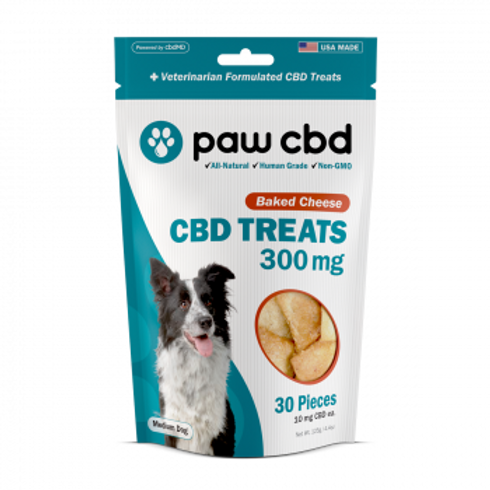 Pet CBD Oil Treats for Dogs  Baked Cheese - 300 mg - 30 Count