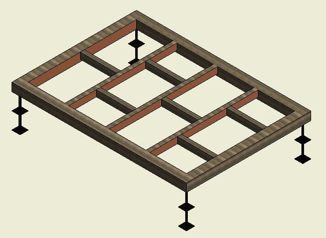 Type 1 - Shed base