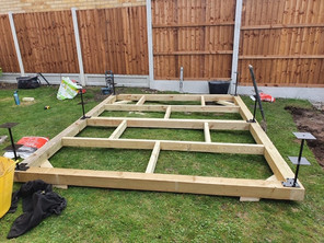 Frame completed & Eco-Feet installed
