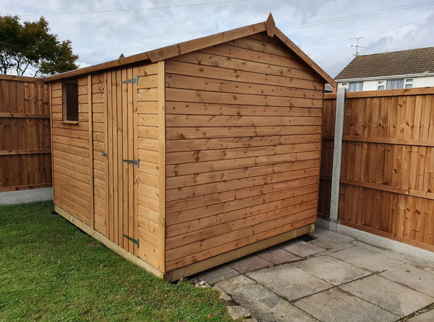 Frame installed and shed erected in one day!