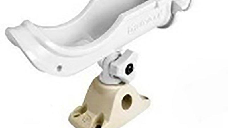 Rod holder white - rotating
