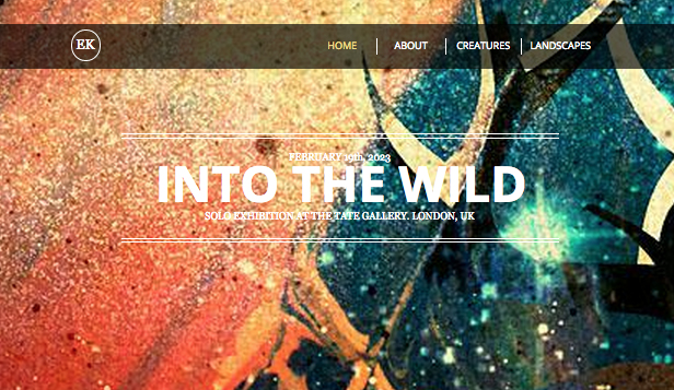 Visual Arts website templates – The Artist